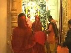 Vasundhara Raje Visits Tripura Sundri Temple Ahead Of Poll Results