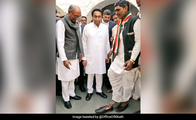 'Made Him Wear Shoes': Kamal Nath's Show Of Gratitude For Congress Worker