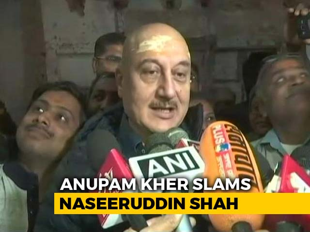 "Video : ""How Much More Freedom Do You Want?"": Anupam Kher Slams Naseeruddin Shah"