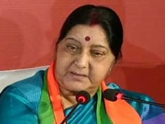 """Traitors, Separatists Happy"": Sushma Swaraj Dig At Congress On Manifesto"