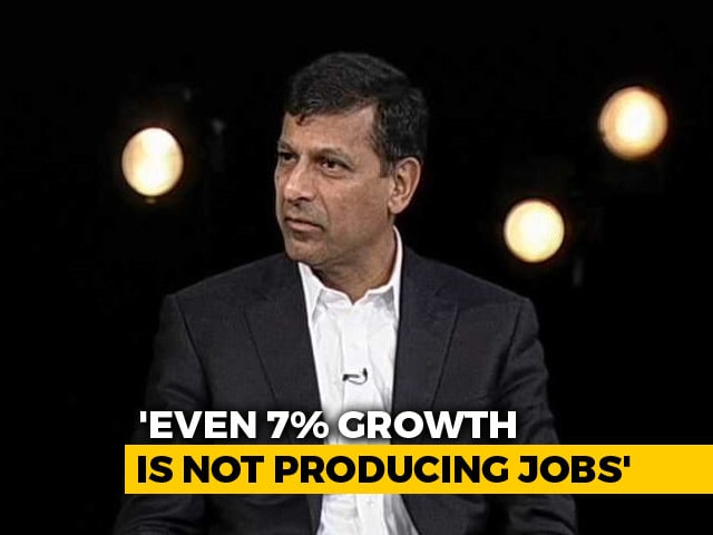 "Video : ""Lack Of Jobs A Serious Problem"": Raghuram Rajan To NDTV"