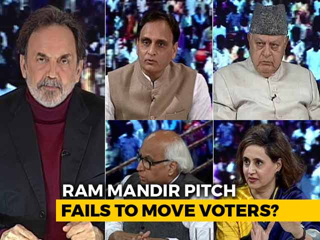 "Video : ""At Elections, You Start Mandir"": Farooq Abdullah vs RSS Ideologue"