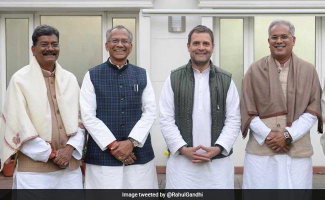 छत्तीसगढ़ में सीएम कौन, राहुल गांधी ने अमेरिकी उद्यमी के कथन के साथ जारी की दावेदारों की फोटो