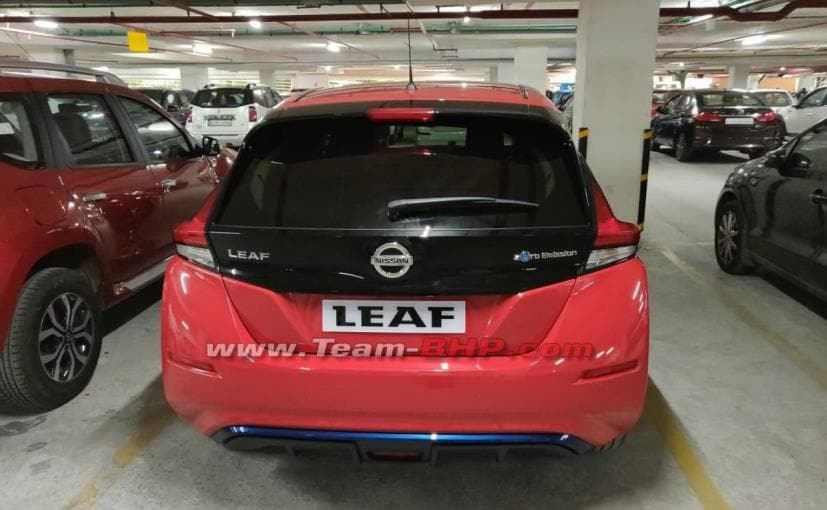 Nissan Leaf Electric Car Spotted In India - CarandBike