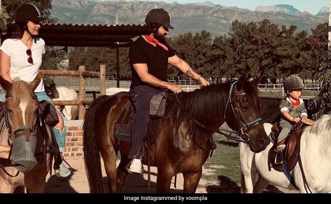 तैमूर अली खान का साउथ अफ्रीका में दिखा एकदम नया अंदाज, सैफ-करीना संग की घुड़सवारी- देखें Viral Photo