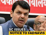 Video : Devendra Fadnavis Gets Top Court Notice For Not Declaring Criminal Cases