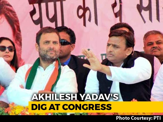 Video : Expect UP Payback, Hints Akhilesh Yadav Over Congress Madhya Pradesh Move