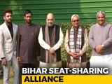 Video : BJP, Nitish Kumar And Paswans Announce Bihar Deal After Weeks Of Turmoil