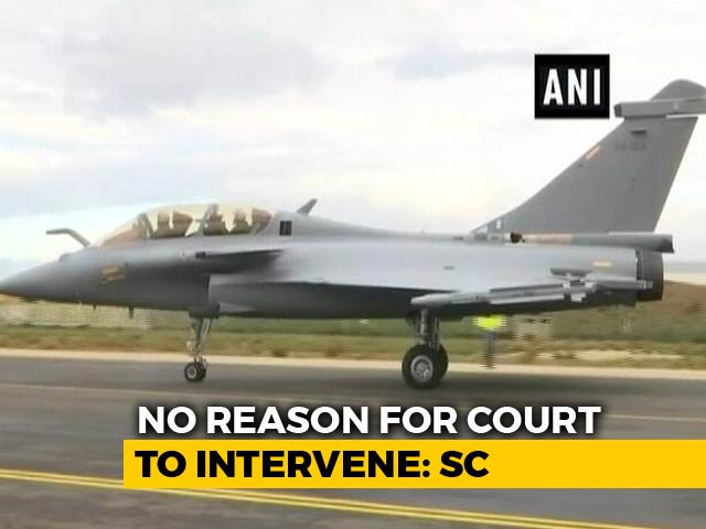 Video : No Proof Of Wrongdoing, Says Top Court On Rafale, Huge Win For Government