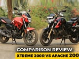 Video : Hero Xtreme 200R vs TVS Apache RTR 200 4V Comparison Review
