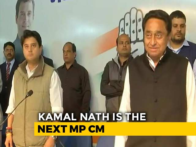 Video : Kamal Nath Is Chief Minister Of Madhya Pradesh, Announces Congress