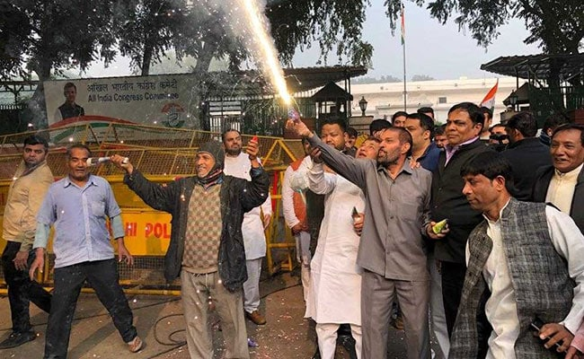 Counting Underway, Celebrations Already On In Rahul Gandhi's Camp