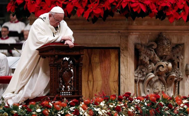 Remember The Poor And Shun Materialism, Pope Says On Christmas Eve