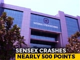 Video : Sensex Cracks Over 550 Points, Rupee Weakest Since November 20