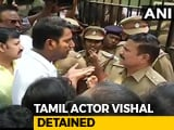 Video : Actor Vishal Detained For Trying To Enter Locked Producers' Body Office