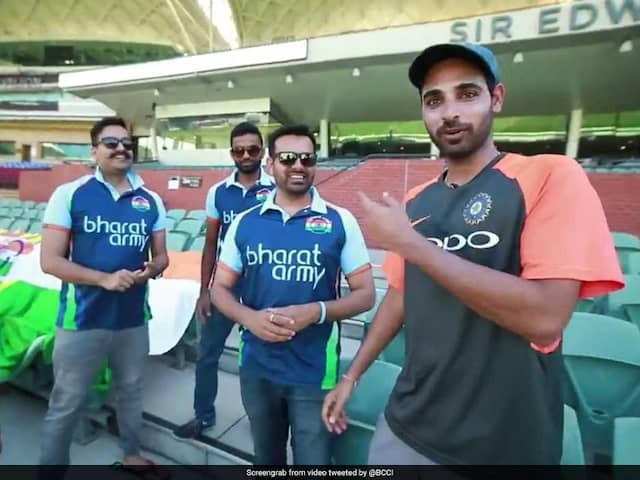 Bharat Army Sings A Song For Bhuvneshwar Kumar At Adelaide Oval. Watch