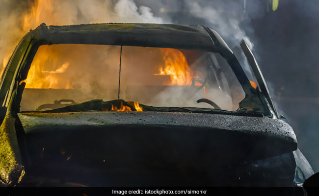 Couple Sets Car On Fire During Gender Reveal Stunt Gone Wrong