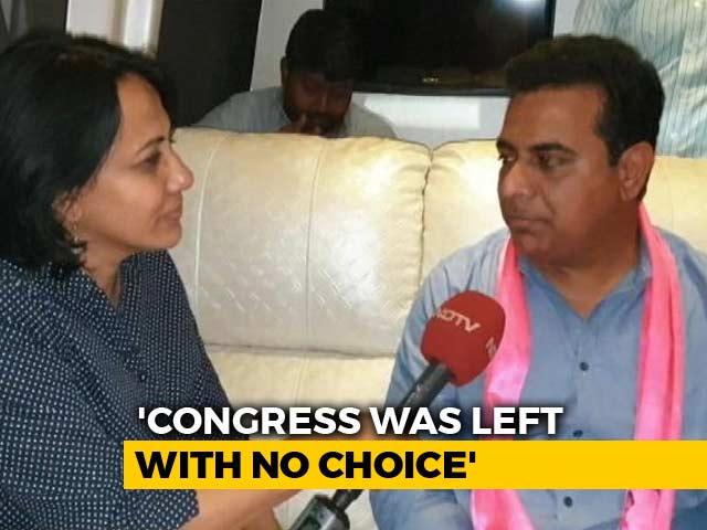"Video : ""Not Sonia Gandhi"": KCR's Son Bristles At Credit War Over Telangana"