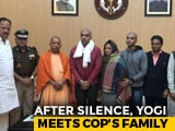 Video : After Silence On UP Cop Killing By Mob, Yogi Adityanath Meets His Family