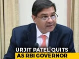 Video : Urjit Patel Quits As RBI Governor Amid Feud With Government