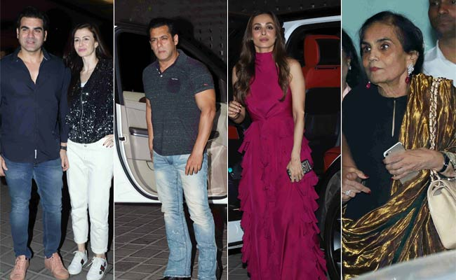 In Pics: Salman Khan, Arbaaz Khan, Malaika Arora Attend Salma Khan's Birthday Bash
