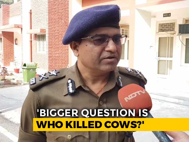 "Video : ""Who Slaughtered Cows? That's The Bigger Question"": Top UP Cop's Shocker"