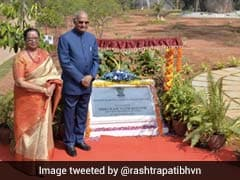 President Inaugurates Rock Garden At His Official Telangana Residence