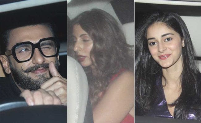 Ranveer Singh, Shweta Bachchan Nanda, Ananya Panday And Others Attend Ritesh Sidhwani's Pre-Christmas Bash