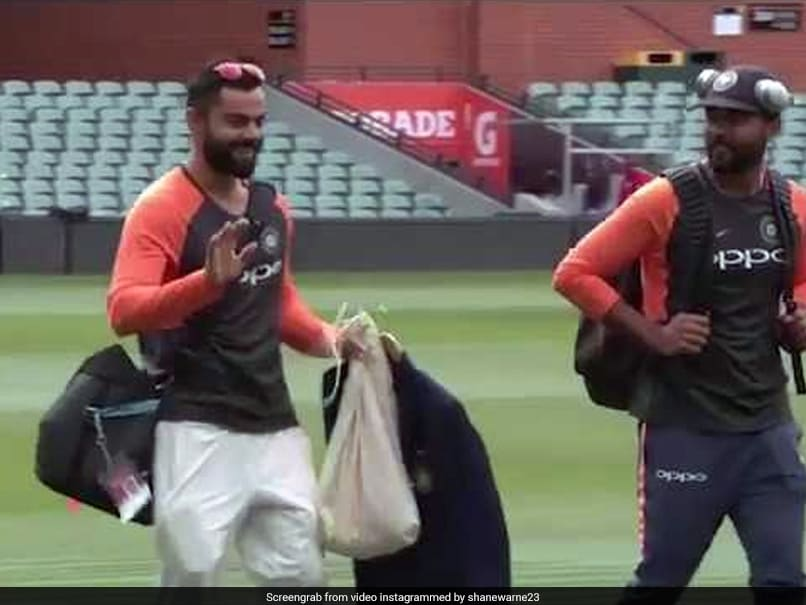 Virat Kohli Giggles At His Own Dance Video Shown By Shane Warne. Watch