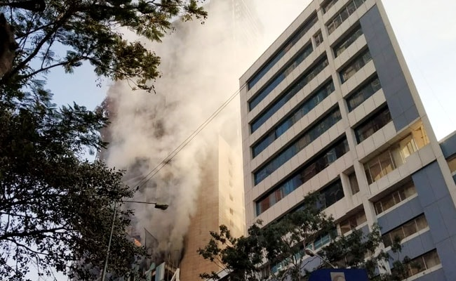 Fire At Building Under Construction In Mumbai