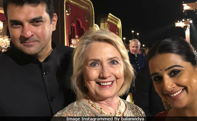 Vidya Balan Posts 'Precious Pic' With Hillary Clinton From Isha Ambani And Anand Piramal's Pre-Wedding Party