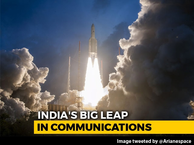 "Video : India's ""Most Powerful"" Satellite, 'The Big Bird', Launched Successfully"