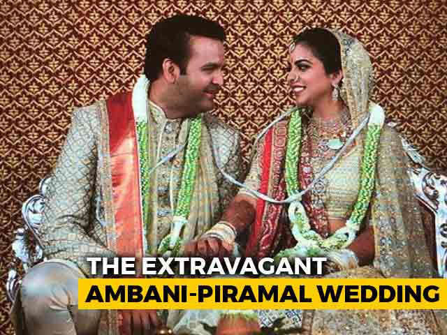 Video : At Grand Ambani-Piramal Wedding, Politicians, Bollywood In Attendance