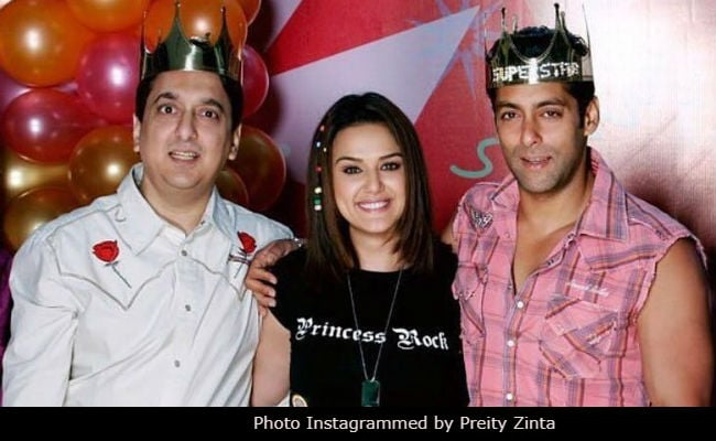 This Throwback Pic Of Preity Zinta With Salman Khan And Sajid Nadiadwala Is A True Blast From The Past
