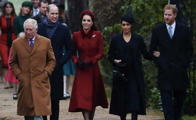 The royal family arrives at the church for Christmas Day service