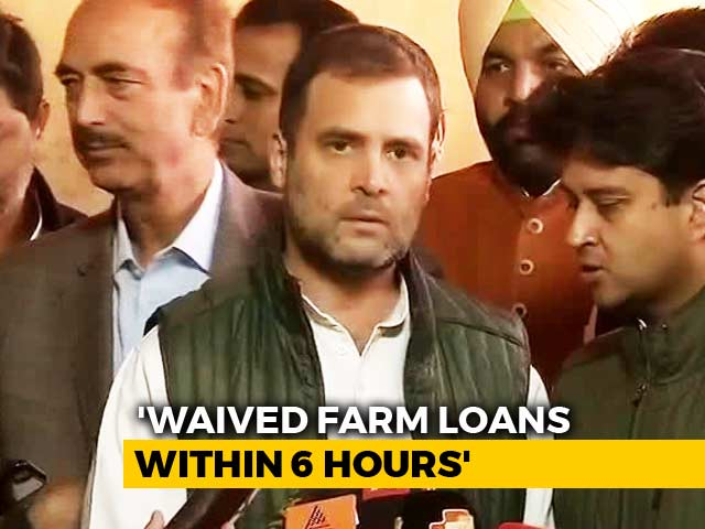 "Video : ""Won't Let PM Sleep Till He Waives Farm Loans,"" Says Rahul Gandhi"