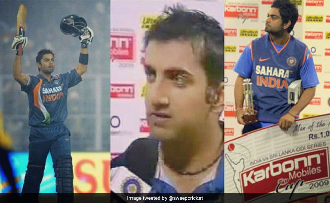 Image result for virat kohli and gambhir man of the match