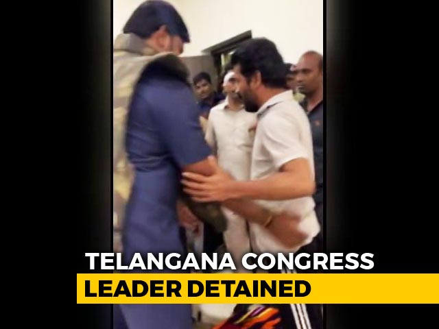 Video : Revanth Reddy, Telangana Congress Candidate, Detained Ahead Of KCR Rally
