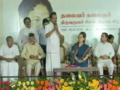 Sonia Gandhi, Rahul Attend Opposition Parade At DMK Event In Chennai