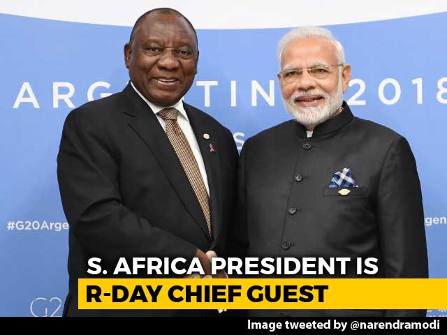 Video : South African President Cyril Ramaphosa To Be 2019 Republic Day Chief Guest