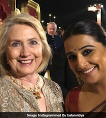 Vidya Posts 'Precious Pic' With Hillary Clinton From Isha-Anand's Party