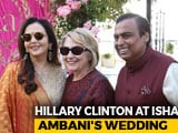 Video : Hillary Clinton In Udaipur For Isha Ambani's Pre-Wedding Party