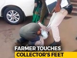 Video : Why This Farmer Fell At Madhya Pradesh Official's Feet