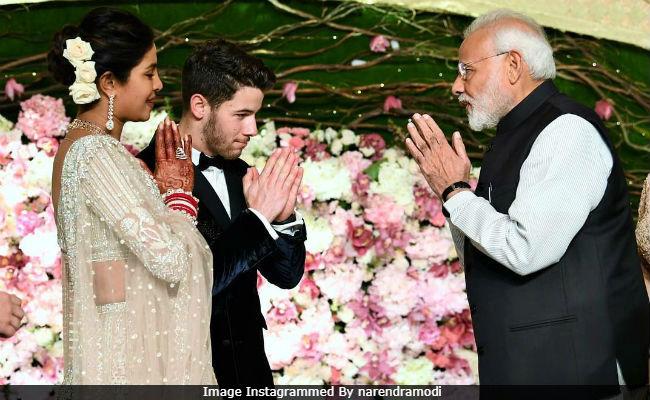 Priyanka Chopra Wedding.Pm Modi Posts Pic With Priyanka Chopra And Nick Jonas Wishes Them