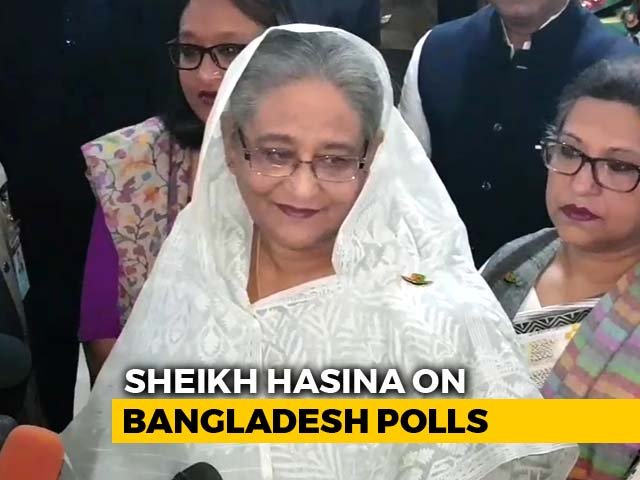 "Video : Bangladesh PM Sheikh Hasina ""Confident"" About Election Victory"