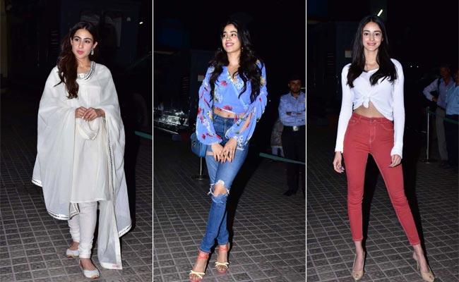Kedarnath Screening: Janhvi Kapoor, Ananya Panday, Kartik Aaryan Join Sara Ali Khan's Cheer Squad