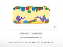 For New Year's Eve 2018, Google's Doodle Is A Pair Of Cute Elephants