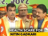 Video : Nitin Gadkari Faints On Stage During Event In Maharashtra