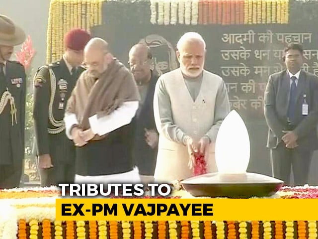 Video : Atal Bihari Vajpayee's Memorial Inaugurated; President, PM Offer Tributes
