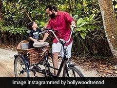 Taimur Ali Khan ने पापा सैफ संग यूं की मस्ती, बिना टीशर्ट के यूं घूमते आए नजर... देखें Pics